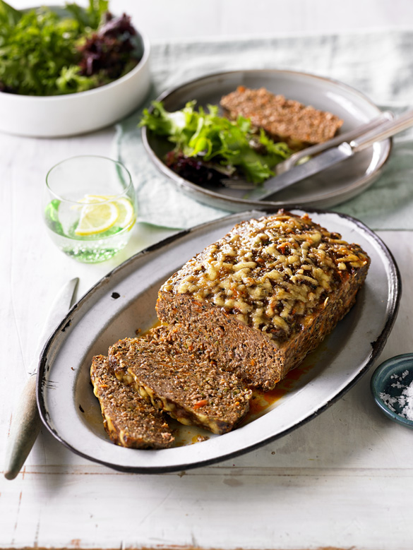 Beef, zucchini and quinoa meatloaf