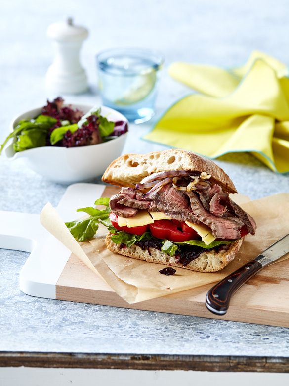 Rump steak sandwich