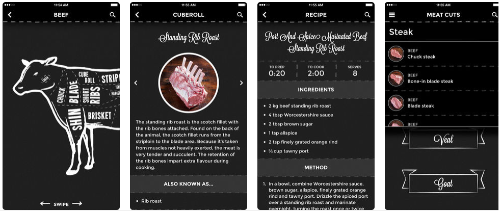 Meat Cuts App preview
